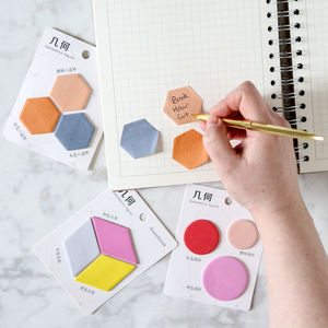 Geometric Sticky Notes - writing