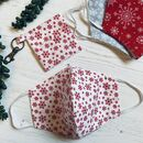 Snowflake Face Mask With Hepa Filter And Pouch