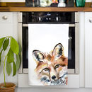 Inky Fox Tea Towel