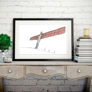 The Angel Of The North Signed Print - prints for christmas