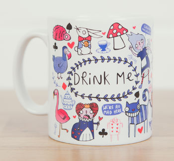 Drink Me Alice In Wonderland Inspired Mug