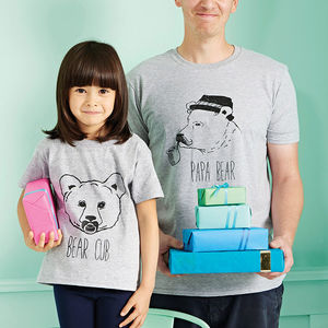 Papa Bear And Bear Cub T Shirt Set - personalised gifts for families