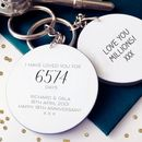 Days I've Loved You Personalised Keyring