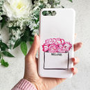 Paper Bags And Peonies Monogram Phone Case