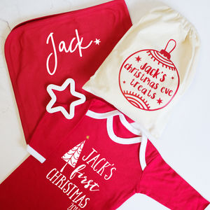 Personalised Baby's First Christmas Eve Bag