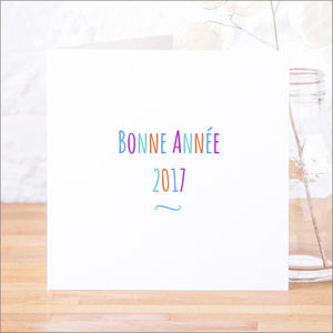 French 'Bonne Année' Happy New Year Cards