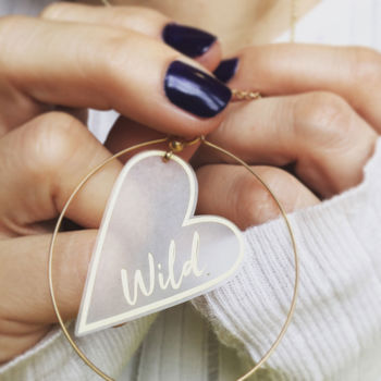 Wild At Heart Gold Hoop Necklace