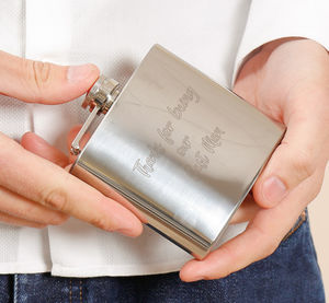 Personalised Hip Flask With Free Engraving - wedding thank you gifts