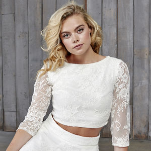 Le Fay Lace Bridal Top - wedding dresses