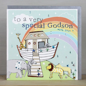 Special Godson Card - christening cards