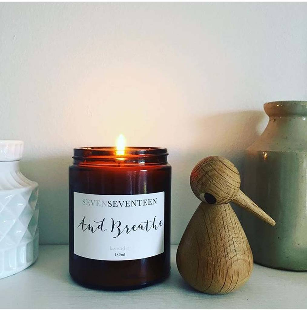 'And Breathe' Lavender Scented Candle