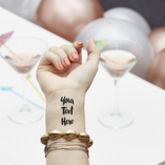 100% Personalised Temporary Tattoo - health & beauty