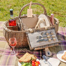 Huntsham Personalised Four Person Boat Picnic Hamper