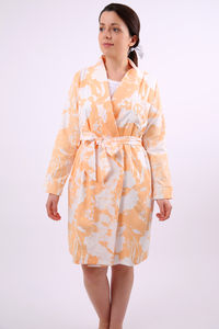 Screen Printed Amata Peach Dressing Gown