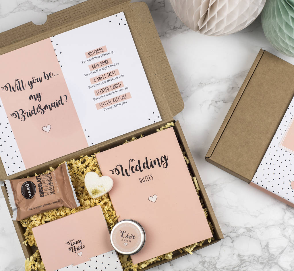 Bridesmaid Gifts: Personalised Will You Be My Bridesmaid Gift Box By Milly