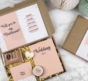 Personalised Will You Be My Bridesmaid Gift Box - will you be my bridesmaid?
