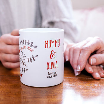 Personalised Our Love Grows Stronger Mug
