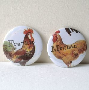 Vintage Style Personalised Hen Party Badge - pins & brooches