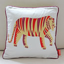 Tiger Print Cotton Cushion