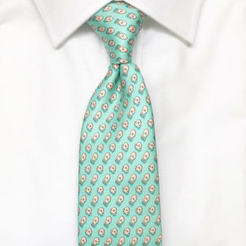 Mens Octopus Silk Tie