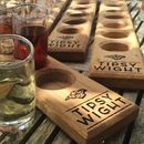 Summer Vodka Collection And Oak Serving Paddle