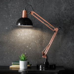 Table Lamp In Bronze And Black - desk lamps