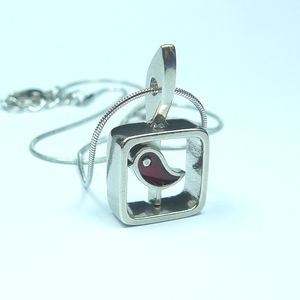 Red Sandbird Pendant Necklace