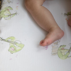 Bamboo Frog Moses Basket Sheets - children's room