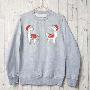 Llama Boobs Christmas Jumper