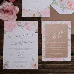 Floral Fancy Wedding Invitation - view all new