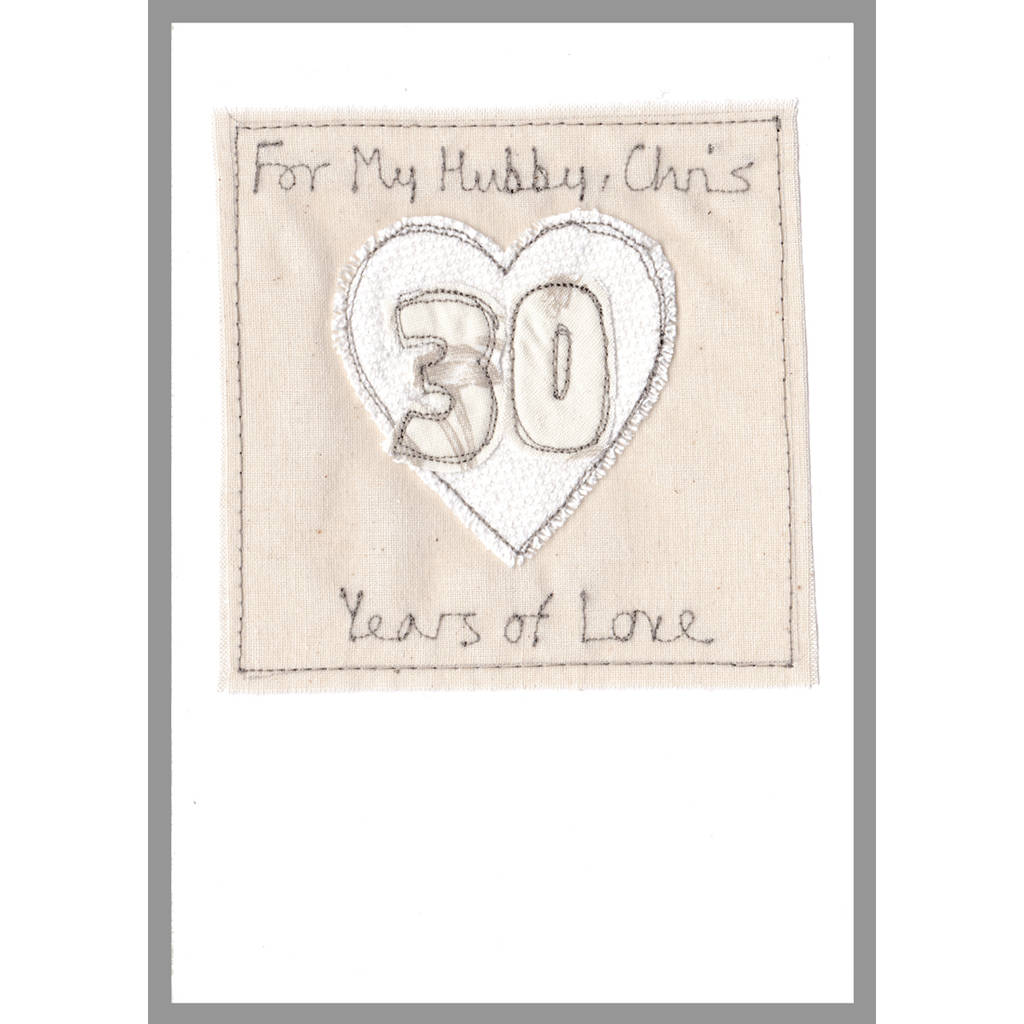 30th Wedding Anniversary Cards For Husband