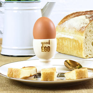 'Good Egg' Wooden Egg Cup - easter homeware