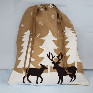 Large Snow Scene Christmas Sack