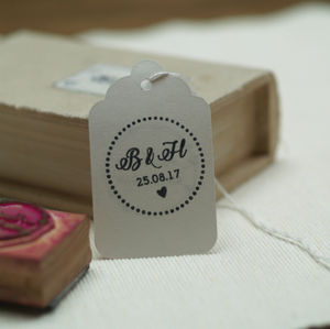 Initials Wedding Stamp - ribbon & wrap