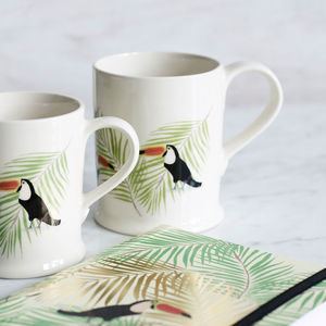 Illustrated Large Toucan Mug