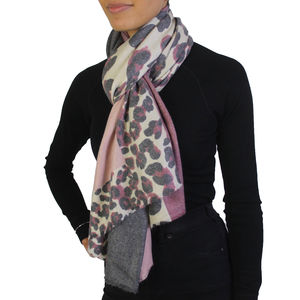 Animal Print Winter Scarf