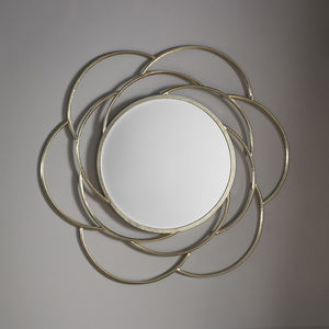 Pale Gold Flower Wall Mirror - mirrors