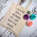 Dorothy Parker Quote Canvas Shopper
