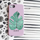 Tropical Leaf Monogram Phone Case