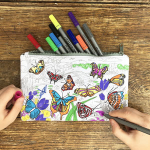 Colour In Butterfly Pencil Case - shop by price