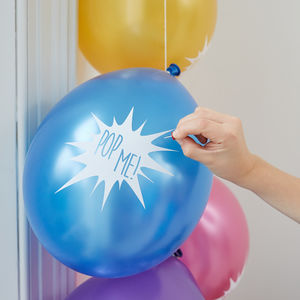 Ten 'Pop Me' Secret Message Balloons - decoration