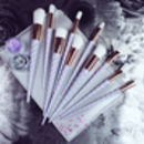 10pc Iridescent Spiral Brush Set And Bag