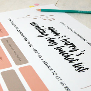 Wedding Day Bucket List: Alternative Guest Book - guest books