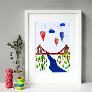 Suspension Bridge Collage Print - baby's room