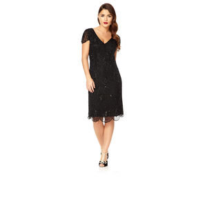 Downton Abbey Flapper Embellished Dress - statement sparkle