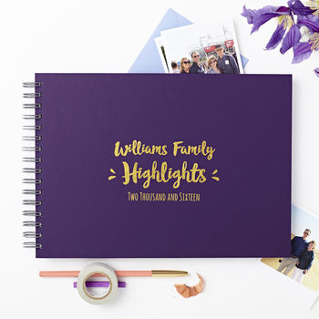 Personalised Family 'Highlights' Photo Album