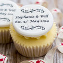 Personalised Wedding Anniversary Cupcake Toppers