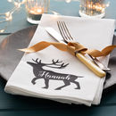 Personalised Reindeer Christmas Napkin