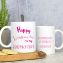 Personalised First Mothers Day Mug For Godmother