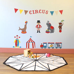 Circus Friends Childrens Wall Stickers - bedroom